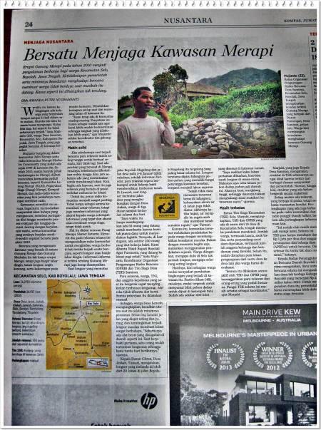 Foto Page Di mana Berita Dimuat di Koran Kompas